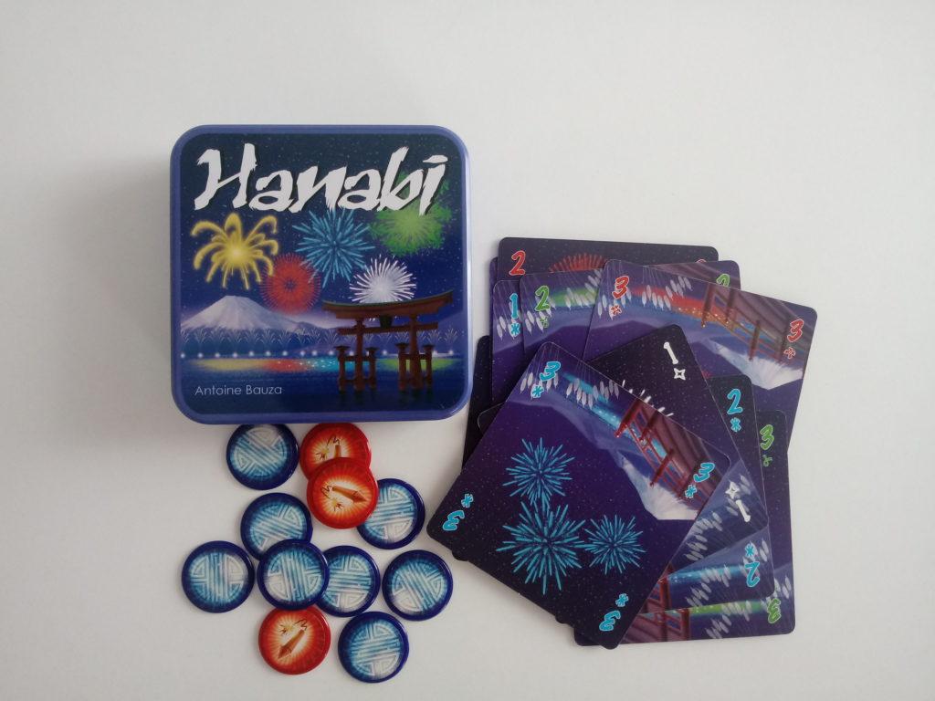 Gra karciana Hanabi - zawartość pudełka