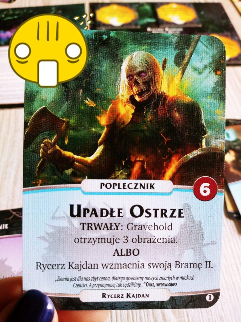 Upadłe Ostrze - karta Rycerza Kajdan, nemezis z dodatku Otchłań do gry Aeon's End