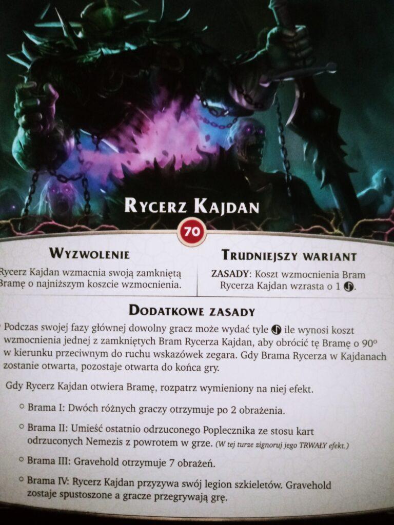 Rycerz Kajdan - karta nemezis z dodatku Otchłań do gry Aeon's End