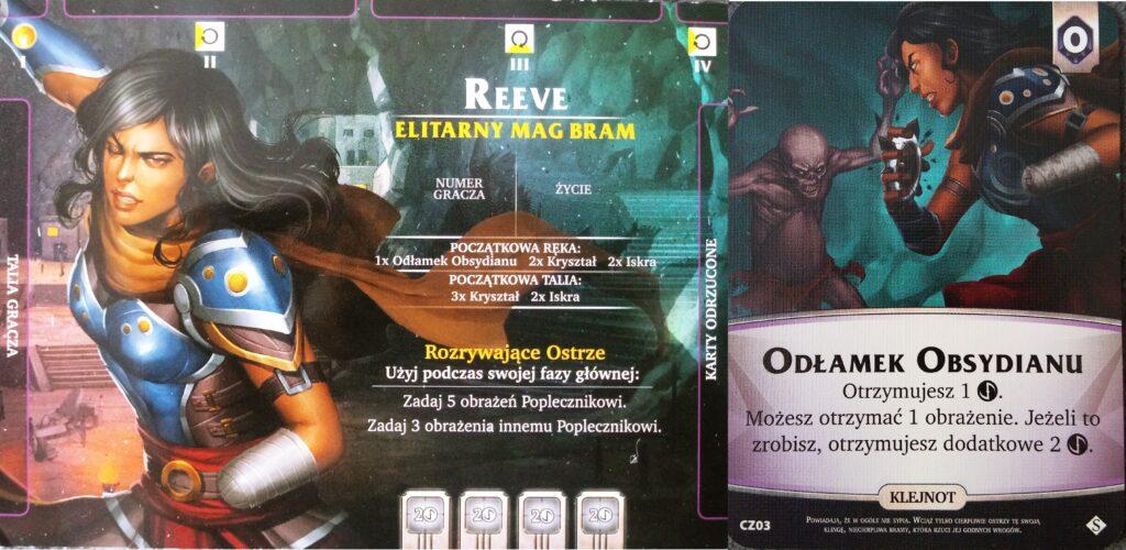 Reeve i jej karta specjalna. postać z dodatku Czeluście do Aeon's End