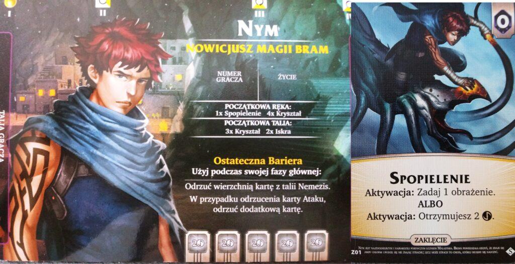 Nym i jego karta specjalna. postać z dodatku Czeluście do Aeon's End