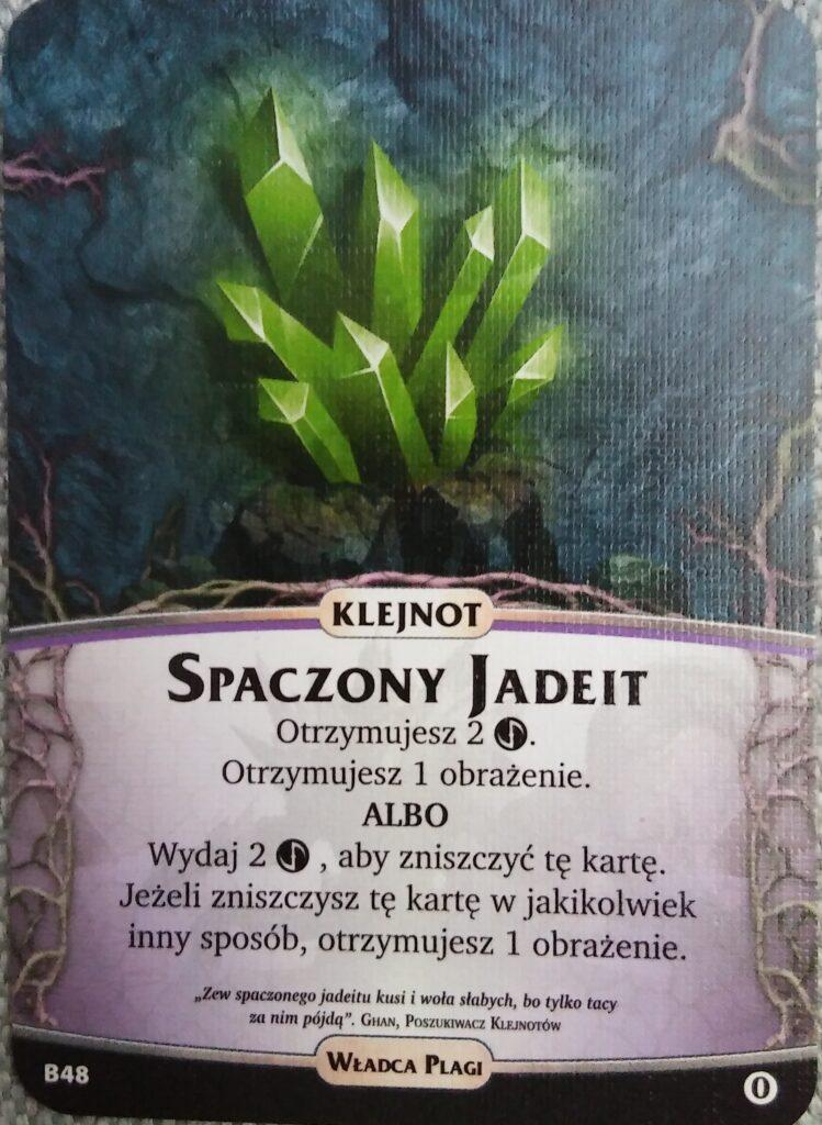 Karta Spaczonego Jadeitu dla Nemezis Władca Plagi z dodatku Bezimienni do gry Aeon's  End