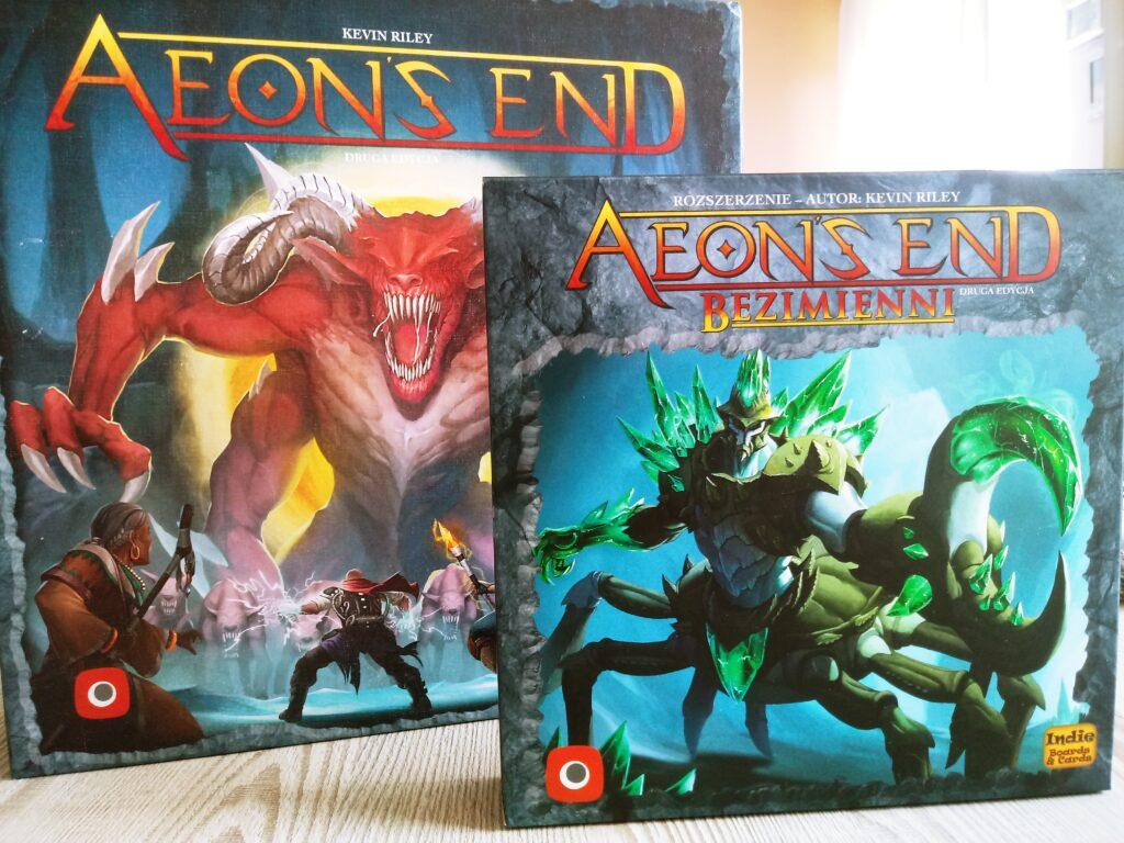 Okładka pudełka z dodatkiem Bezimienni do gry Aeon's End