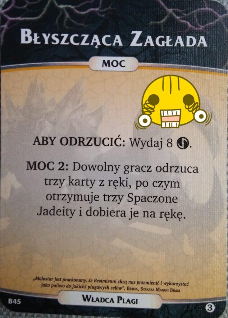 Karta z talii dla Nemezis Władca Plagi z dodatku Bezimienni do gry Aeon's  End